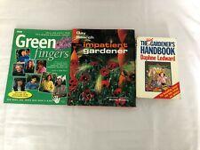 3x Gardening Books Idiot Gardener's Handbook Greenfingers Impatient Gardener