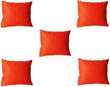 """5 Pcs Cushion Cover Solid Print Home Decor Throw Silk Sofa Case 16""""X16"""" New"""