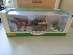 LEMAX Table Accents No.43451 Christmas Tree Wagon. VGC used