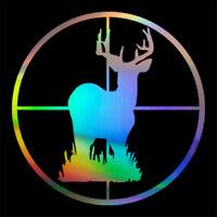 Shooting Deer Target Hunting Decal Car Window Wall Door Bumper Vinyl Sticker