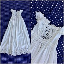 """Antique Exceptional Civil War Era Broderie Anglaise Child's ChristenIng Gown 48"""""""