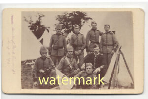 Rifle Volunteers at Stoneleigh Park camp, Warwickshire, 1890, CDV