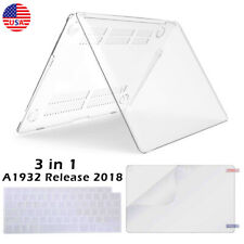 For 2018 Macbook Air 13.3 A1932 Clear Hard Case & Keyboard & Screen Protector