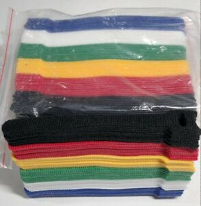"""120pcs Microfiber Cloth Cable Straps Hook Loop Reusable Fastening Cable  6"""" Ties"""