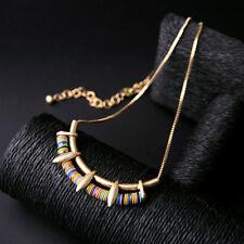 Collar De Cadena Dorado Perla Multicolor Étnico Rosa Azul Clase Artisannal XXL 1