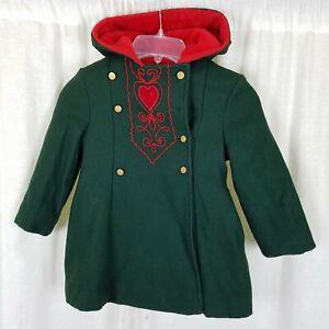 Vintage Philmark Fashion Winter Wool Peacoat Dress Coat Girls 3T German Austrian