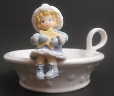 Hallmark Spoonful of Stars Ceramic & Resin Candle Holder Euc Girl Candy Dish