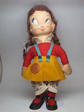 VTG 1940s Margie & Mugsy Trixy Twins Hill-Billy Cartoon Doll Molded Cloth Felt