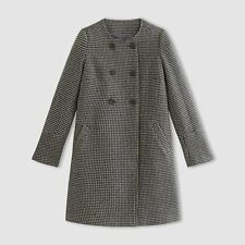 LA REDOUTE LADIES DOUBLE BREASTED POLKA DOT COAT GREY SIZE 18 NEW (324) SALE
