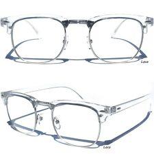 Men's or Women Half Frame Top Brow Transparent Top Clear Lens Glasses Retro