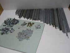 trophy building parts Lot Thd rod,nuts,washers,couplers ,coupler nuts.over 200 pc