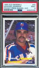 1990 SCD Price Guides Insert #40 HOWARD JOHNSON New York Mets PSA 9 MINT Pop 1