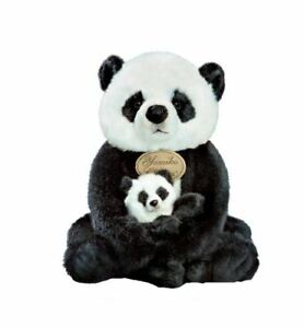 """Yomiko Classic Mommy Panda and Cub 12.5"""" Stuffed Animal by Russ Berrie"""
