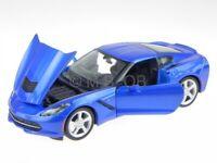 Chevrolet Corvette C7 Stingray 2014 blue diecast model car 31505 Maisto 1/24