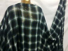 *NEW*Fine Quality Soft  Polyester  Checked Print Dress/Craft Fabric*FREE P&P*