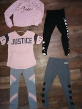 Girls nice justice clothing size 8 yoga pants and tops