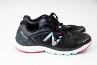 New Balance 860v8 Womens Running Athletic Shoes Black ASYM Counter W860BP8 US 7