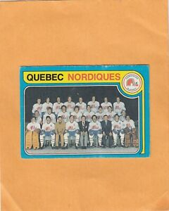 1979-80 O PEE CHEE NORDIQUES TEAM NO:261 Ex cond not marked see scan   LOT 89