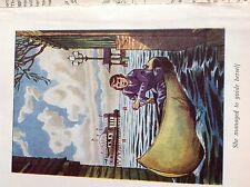 m1e ephemera vintage book plate girl in canoe she guided herself