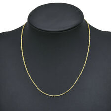 Real Classic Gold Plated Stainless Steel 49.8cm Rope Chain Necklace Men Women