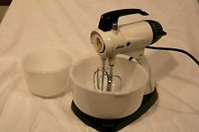Vintage Sunbeam Mixmaster Mixer With Two Bowls Works
