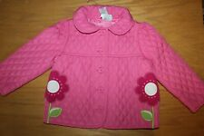 NWOT Gymboree Smart and Sweet 2T-3T Pink Flower Quilted Jacket Coat