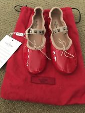valentino red patent ballet flats size 6.5