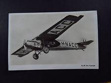 postcard Netherlands India Indie ACC H N A C C airplane plane KLM