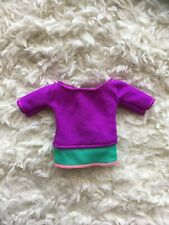 SHIRT ONLY Made to Move Purple Yoga Top Tee Barbie Dolls Fashionistas