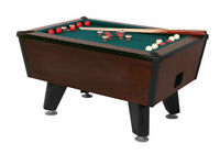 Valley Tiger Cat Bumper Pool Table with accessories