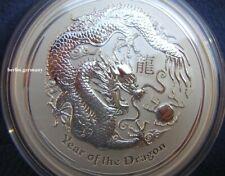 5 OZSilber Münze Lunar Drache 2012 Dragon silver coin