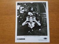 COMBINE Caroline Records 8x10 BLACK & WHITE Press Photo Promo HARDCORE PUNK BAND