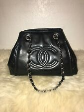 COCO CHANEL BLACK PATENT LEATHER PURSE, excellent condition
