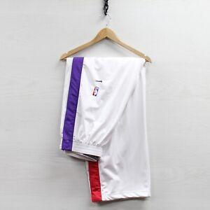Vintage Toronto Raptors Nike Tearaway Track Pants Size 2XL White NBA Basketball