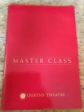 More details for masterclass. queens theatre . theatre programme 1997. maria callas story