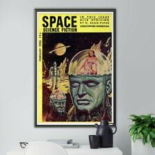 """1953 Space Science Fiction Poster! (up to 24"""" x 36"""") - Vintage - ScifFi - Robots"""