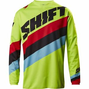 Shift Racing Youth Whit3 Tarmac Yellow Jersey MX Motocross Offroad Riding 17219