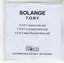 (GJ321) Solange, T.O.N.Y. - DJ CD