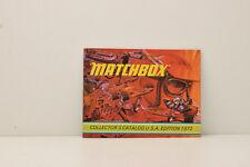 CATALOGUE MATCHBOX USA EDITION 1972 ORIGINAL D'ÉPOQUE