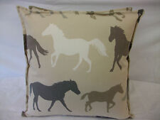 A NEW CUSHION COVER IN CLARKE & CLARKE STAMPEDE LINEN, HORSE & PONY HEAVEN!