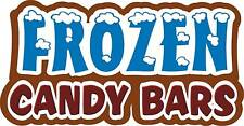 "Frozen Candy Bars Concession Decal 14"" Food Sign Menu"