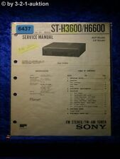 Sony Service Manual ST H3600 /H6600 FM/AM Tuner (#6437)
