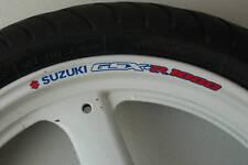 8 x SUZUKI GSXR 1000 Wheel Rim Stickers Decals - k1 k2 k3 k4 k5 k6 k7 k8 gsx r
