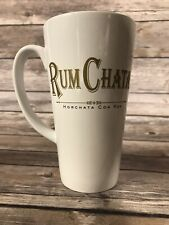 "Rum Chata 14 oz 6"" Tall Coffee Mug Cup Horchata Con Ron White Gold"