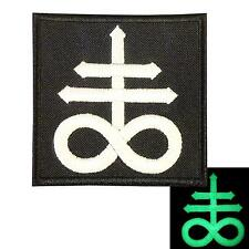 Leviathan Cross Satan Crux Satanus symbol demon embroidered sew iron on patch
