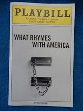 What Rhymes With America - Linda Gross Theatre Playbill - November 2012