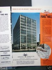 1963 VERMONT MARBLE Chicago Blair Bldg VERMARCO Wall ASBESTOS-Cement Core Use Ad