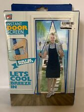 Instant Screen Door Magnetic Total Value Product Keep Fresh Air In and Bugs Out
