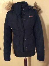 Hollister Girls Winter Jacket Navy Blue Size Medium
