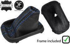 BLUE STITCH LEATHER GEAR BOOT+FRAME FOR VW GOLF MK5 V 03-09 GTI GDT R32 DSG